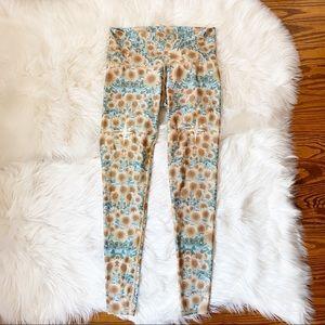Teeki Sunrise Sunflower Yoga Pants Leggings M